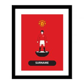 Manchester United Personalised Player Figure Print