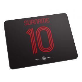 Manchester United Personalised Retro Shirt Mouse Mat