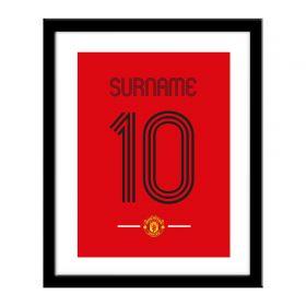 Manchester United Personalised Retro Shirt Print
