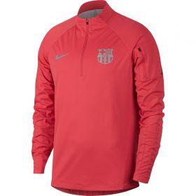 Barcelona Squad Shield Drill Top - Pink