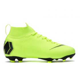 Nike Mercurial Superfly 6 Elite Firm Ground Football Boots - Yellow - Kids