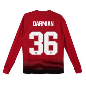 Manchester United Home Cup Shirt 2018-19 - Kids - Long Sleeve with Darmian 36 printing