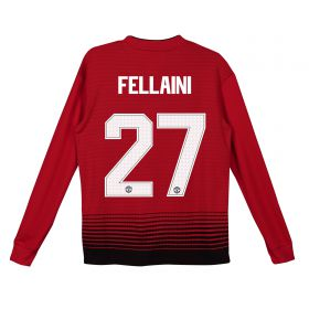 Manchester United Home Cup Shirt 2018-19 - Kids - Long Sleeve with Fellaini 27 printing