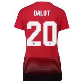 Manchester United Home Cup Shirt 2018-19 - Womens with Dalot 20 printing