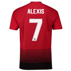 Manchester United Home Cup Shirt 2018-19 with Alexis 7 printing