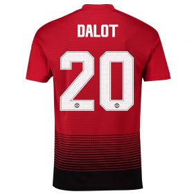 Manchester United Home Cup Shirt 2018-19 with Dalot 20 printing
