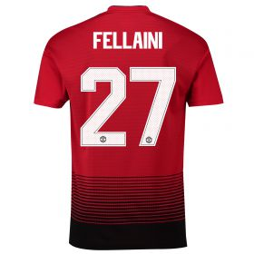 Manchester United Home Cup Shirt 2018-19 with Fellaini 27 printing