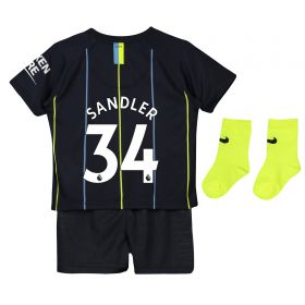 Manchester City Away Stadium Kit 2018-19 - Infants with Sandler 34 printing