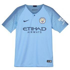 Manchester City Home Stadium Shirt 2018-19 - Kids with Mangala 15 printing