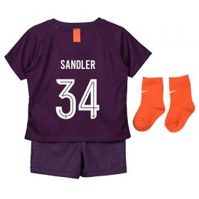 Manchester City Third Cup Stadium Kit 2018-19 - Infants with Sandler 34 printing