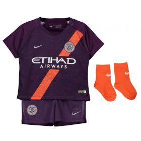Manchester City Third Stadium Kit 2018-19 - Infants with Sandler 34 printing