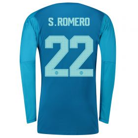 Manchester United Away Cup Goalkeeper Shirt 2018-19 with S.Romero 22 printing