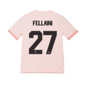 Manchester United Away Cup Shirt 2018-19 - Kids with Fellaini 27 printing