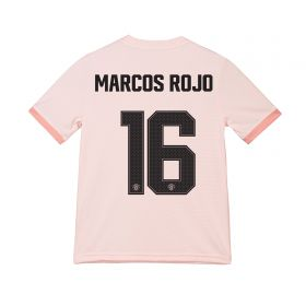 Manchester United Away Cup Shirt 2018-19 - Kids with Marcos Rojo 16 printing