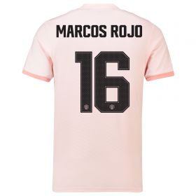 Manchester United Away Cup Shirt 2018-19 with Marcos Rojo 16 printing