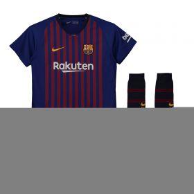 Barcelona Home Stadium Kit 2018-19 - Little Kids with Rakitic 4 printing