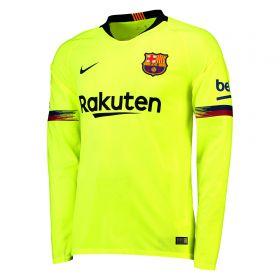 Barcelona Away Stadium Shirt 2018-19 - Long Sleeve with Rakitic 4 printing