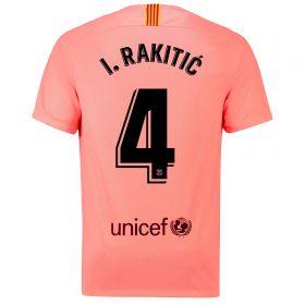 Barcelona Third Vapor Match Shirt 2018-19 with Rakitic 4 printing