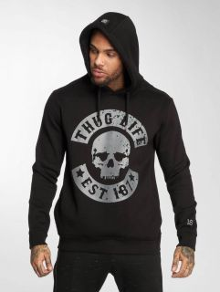 Мъжки суичър Thug Life / Hoodie B.Distress in black
