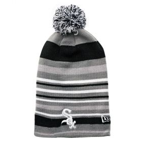 Type Caps New Era Stripe Out 2 Chicago White Sox Long Pom Beanie