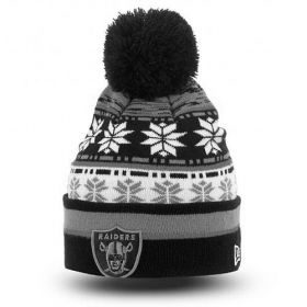Зимна шапка New Era Pom Blizz 2 Oakland Raiders