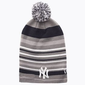 Type Caps New Era Stipe Out 2 New York Yankees Long Pom Beanie