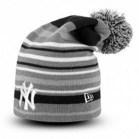 Type Caps New Era Stipe Out 2 New York Yankees Long Pom Beanie