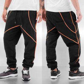 Just Rhyse Contrast Sweat Pants Black