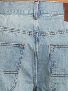 Rocawear / Straight Fit Jeans Moletro Leather Patch in blue