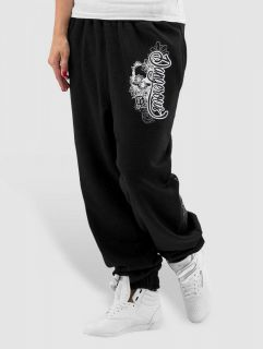 Dangerous DNGRS / Sweat Pant Flower in black