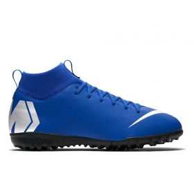 Nike MercurialX Superfly 6 Academy Astroturf Trainers - Blue - Kids