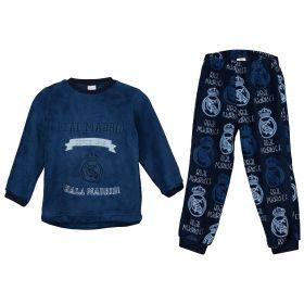 Real Madrid Repeat Print Pyjamas - Blue - Infants