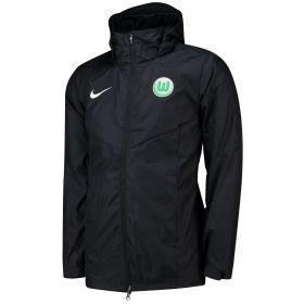 VfL Wolfsburg Training Rain Jacket - Black