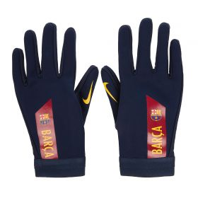 Barcelona Hyperwarm Academy Gloves - Dark Blue