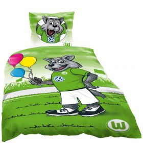 VfL Wolfsburg Wolfi Duvet Cover - Single