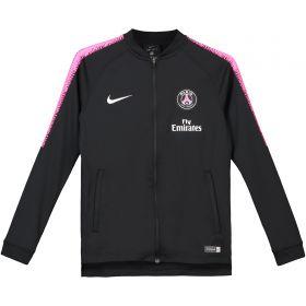 Paris Saint-Germain Squad Tracksuit - Black - Kids