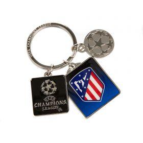 Atlético de Madrid UEFA Champions League Keyring - 3 Piece