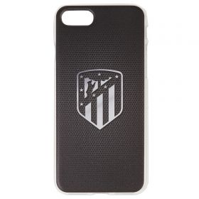Atlético de Madrid iPhone 7/8 Crest Phone Case - Black/Silver