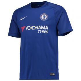 Chelsea Home Stadium Shirt 2017-18 - Kids with David Luiz 30 printing