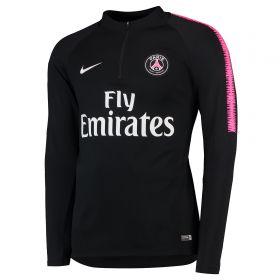 Paris Saint-Germain Squad Drill Top - Black