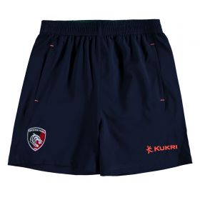 Leicester Tigers Wicking Lightweight Short - Junior - Navy