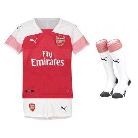 Arsenal Home Mini Kit 2018-19 with Monreal 18 printing