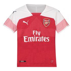 Arsenal Home Shirt 2018-19 - Kids with Mustafi 20 printing
