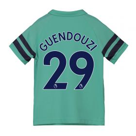 Arsenal Third Shirt 2018-19 - Kids with Guendouzi 29 printing