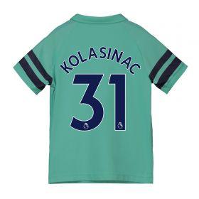 Arsenal Third Shirt 2018-19 - Kids with Kolasinac 31 printing
