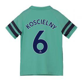 Arsenal Third Shirt 2018-19 - Kids with Koscielny 6 printing