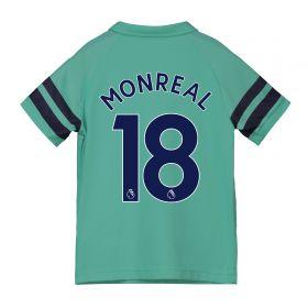 Arsenal Third Shirt 2018-19 - Kids with Monreal 18 printing
