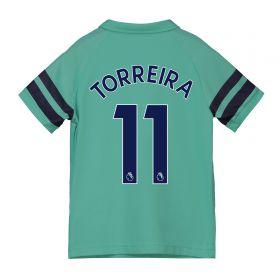 Arsenal Third Shirt 2018-19 - Kids with Torreira 11 printing