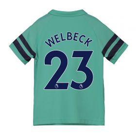 Arsenal Third Shirt 2018-19 - Kids with Welbeck 23 printing