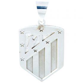 Atlético de Madrid Crest Pendant - 925 Sterling Silver